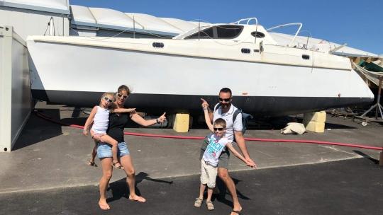 Rencontre intense entre nos enfants et le bateau
